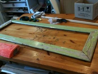 Find an old battered frame ...