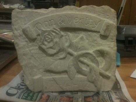 Finished carving for a wedding commission