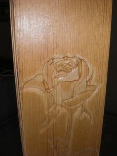 Close up of varnished detail