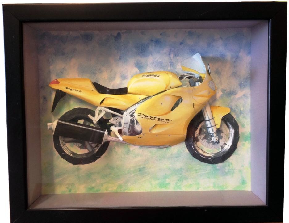 Framed finished piece