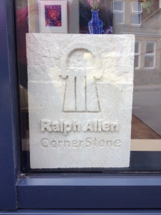 Logo now showing in the window of the Cornerstone