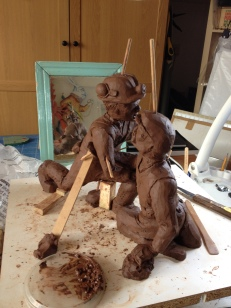 Rejoin the chaps into position and wait for them to dry before firing.