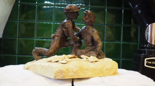 ... I had them cold-cast in Bronze and set into a piece of Bath Stone from the Combe Down Mine.