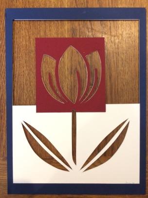 Cut mount card 31cm x 23cm Unframed