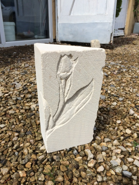 Hand carved from off-cut Bath Stone. £70