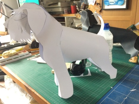 Using some of the mechanics from the Dachshund, I complete the model