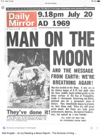 Research of the original headlines in a British paper.