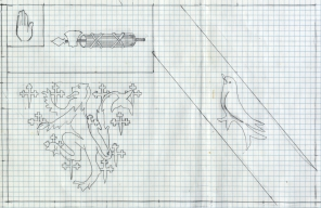 This is the drawing I made at full size of final carving